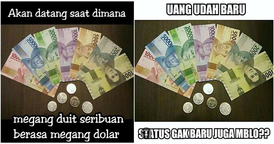 10 Meme uang rupiah baru ini akan bikin kamu nyengir kuda, cubanget