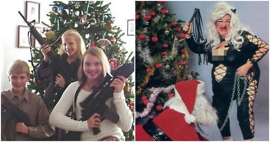 10 Foto Natal keluarga paling absurd, bikin ketawa sambil tepuk jidat