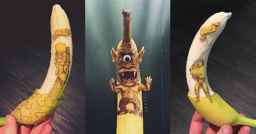 15 Karya seni ini cuma dibikin dari buah pisang, kerennya bukan main