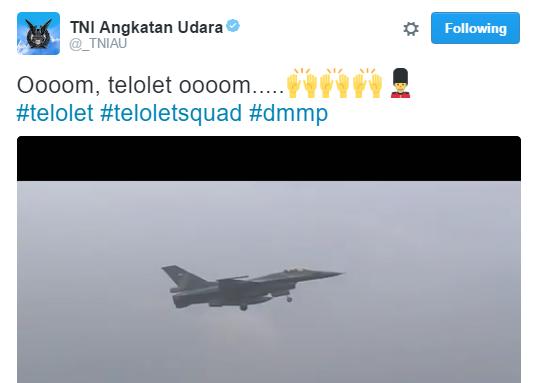 Video kocak 'Om Telolet Om' ala TNI AU ini gile bener