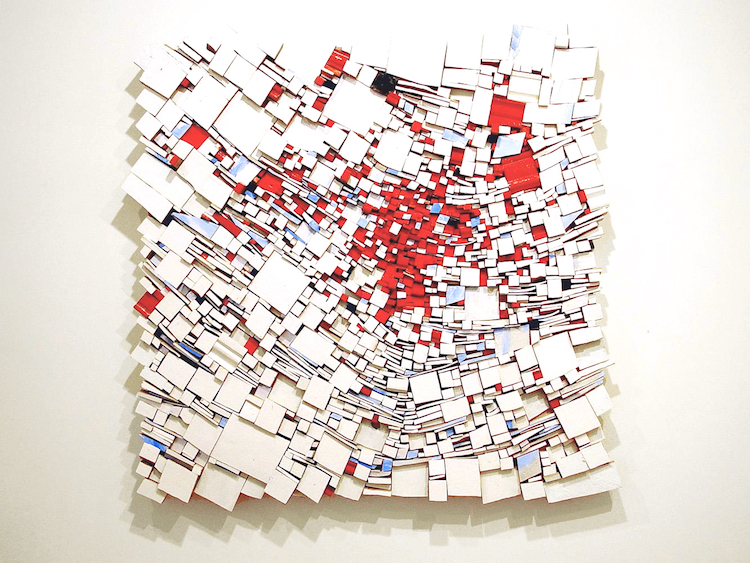 10 Lukisan ledakan ini tersusun dari potongan kayu, antimainstream