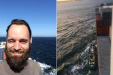 Pria ini keliling dunia 'nebeng' kapal kontainer