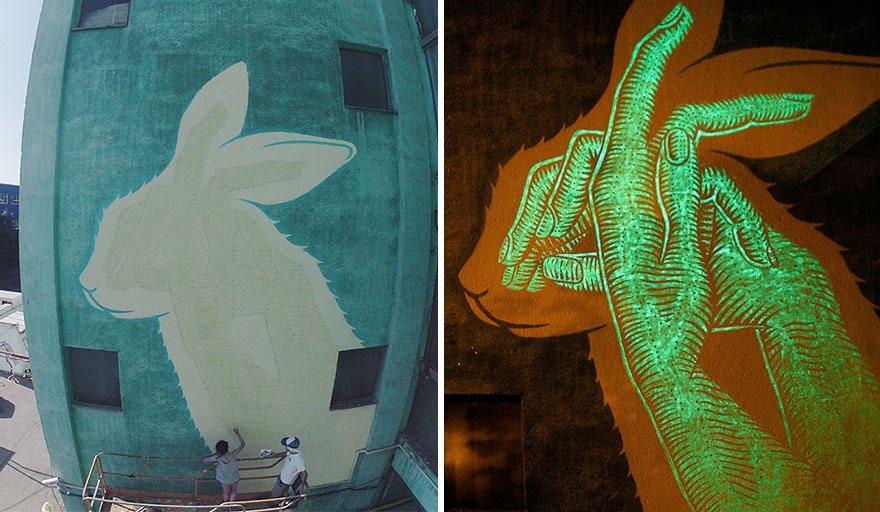 8 Potret mural keren bisa menyala di kegelapan ini bikin takjub