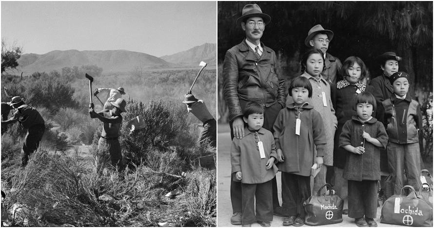 Terungkap 20 foto langka orang Jepang di kamp Amerika saat PD II