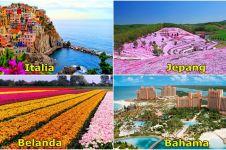 25 Destinasi wisata paling warna-warni di dunia, bikin pengen ke sana