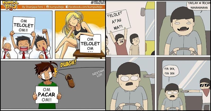 15 Komik strip 'Om telolet Om' ini siap bikin kamu ketawa puas