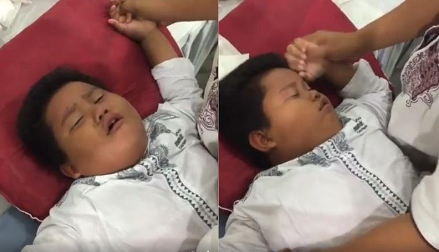 Anak ini cubanget, pura-pura pingsan saat mau disunat, telolet deh!