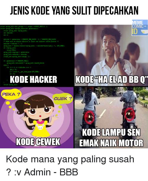 Meme Kode © 2016 Istimewa