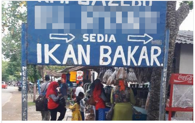 curhatan netizen makan di pinggir jalan dengan harga selangit © 2016 facebook