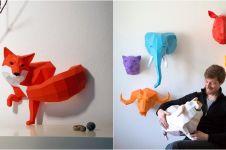 10 Karya patung binatang ini ternyata terbuat dari kertas, keren abis