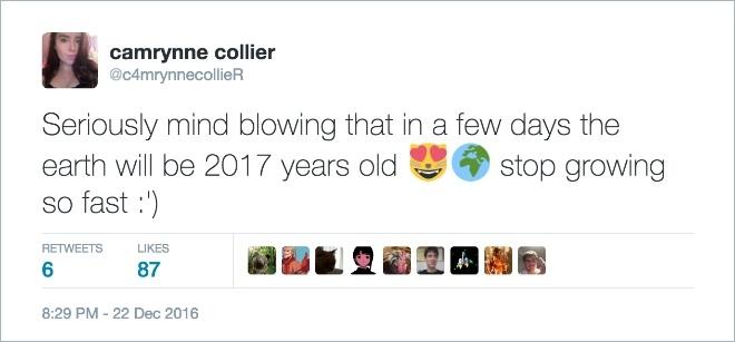 15 orang ini berpikir usia Bumi sudah 2017 tahun, kocak nih?