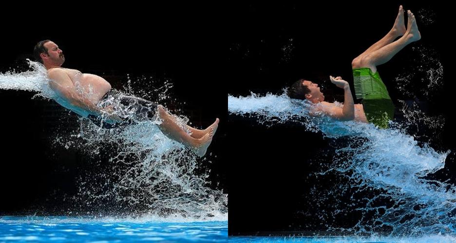Kocak, ini lho 7 pose orang saat keluar dari seluncuran air