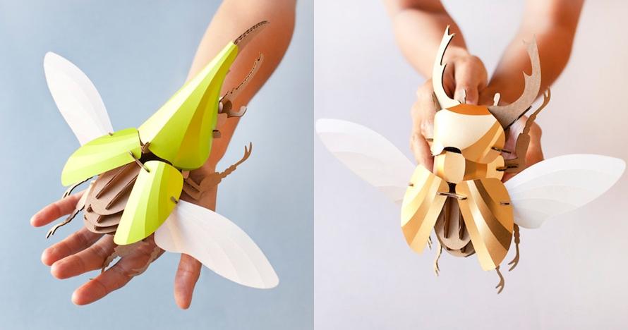 10 'Serangga' terbuat dari kardus ini uniknya kebangetan