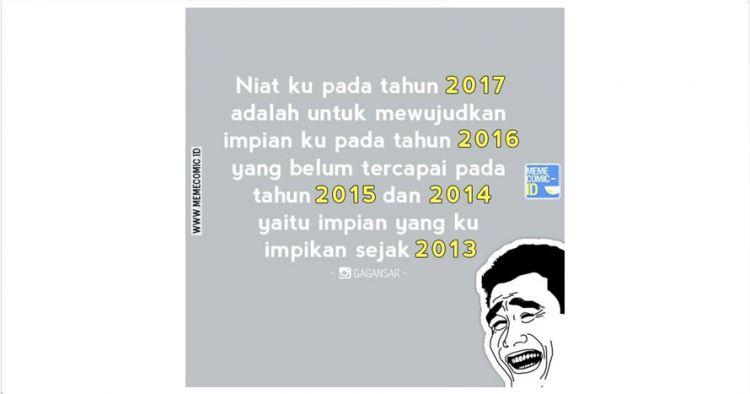 17 Meme Seputar Tahun Baru 2017 Ini Bikin Kamu Senyum Senyum