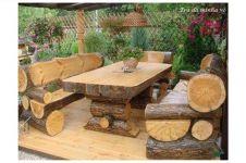 15 Perabot rumah dari kayu gelondongan, bikin nuansa alam yang asyik