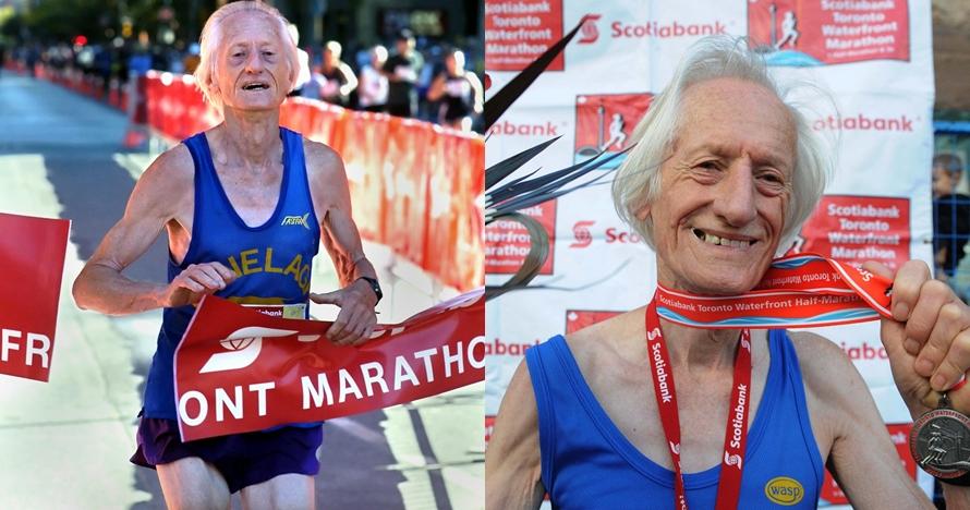 Pelari usia 85 tahun ini pecahkan rekor baru lari maraton, inspiratif