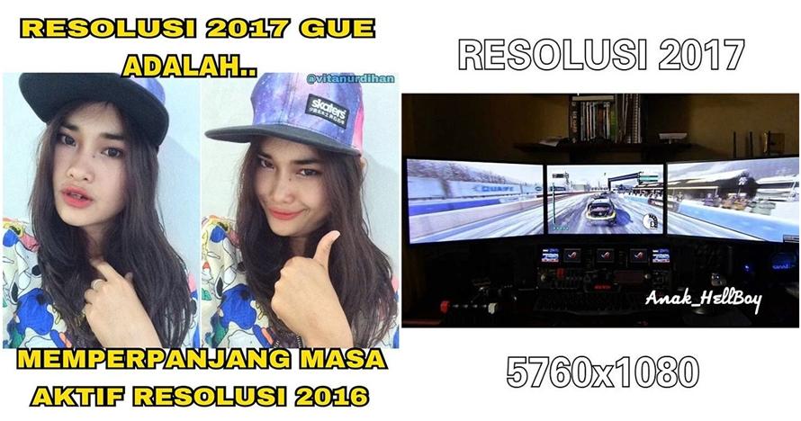 12 Meme 'Resolusi 2017' ini lucu-lucu gimana gitu, tapi seru!
