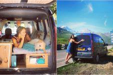 Wanita ini sulap mobil van tua untuk traveling, hasilnya bikin melongo