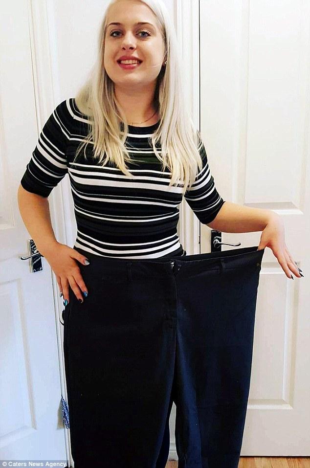 perubahan tubuh gadis setelah berhenti makan junk food © 2017 dailymail