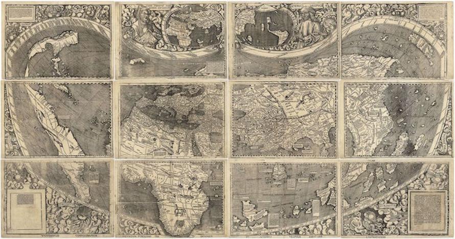 12 Penampakan peta pertama dunia yang berusia 509 tahun, bikin melongo