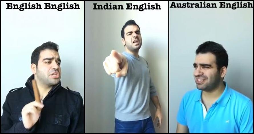 Orang ini tirukan aksen Bahasa Inggris berbagai negara, bener nggak?