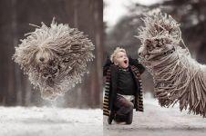 5 Potret lucunya anjing komondor, sekilas mirip banget dengan kain pel