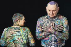 Pasangan ini pecahkan rekor jadi lansia dengan tato terbanyak di dunia