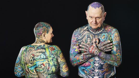 pasangan ini pecahkan rekor jadi lansia dengan tato terbanyak © 2017 Guinnessworldrecords