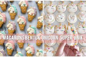 Unik, 12 macarons tema unicorn ini seperti kue di dunia magic lho