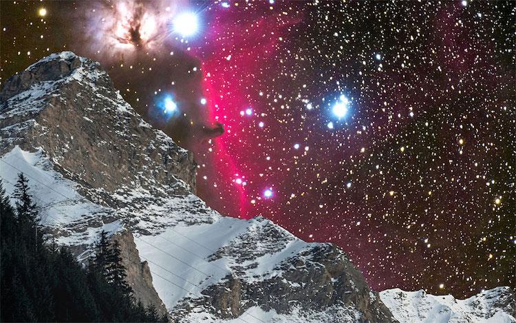 foto galaksi Andromeda di langit Swiss © 2017 Sandro Casutt