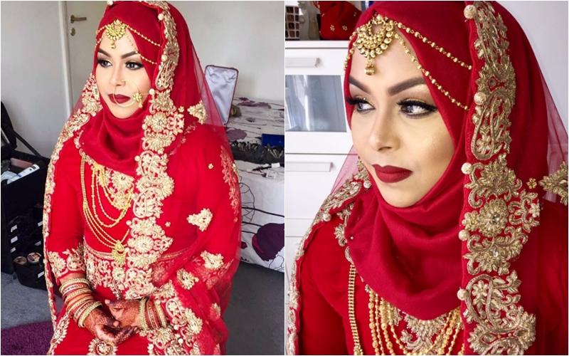 Suka Warna Merah Coba Deh 10 Ide Pengantin Muslim Ala India Ini