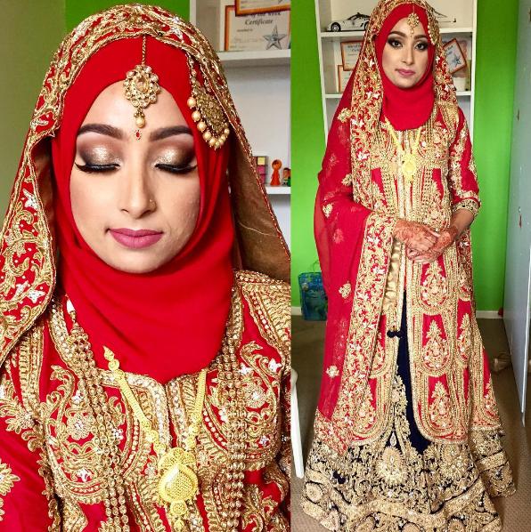 Fashion 2017 berhijab - Suka Warna Merah Coba Deh 10 Ide Pengantin Muslim Ala