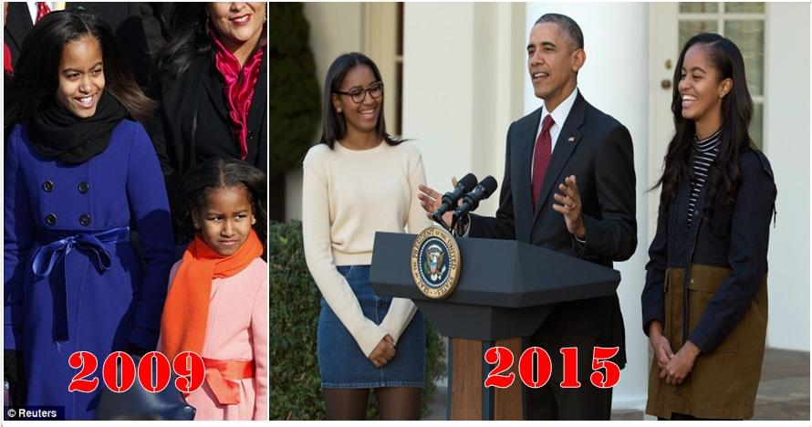Transformasi 2 putri Obama sebelum dan sesudah masuk Gedung Putih