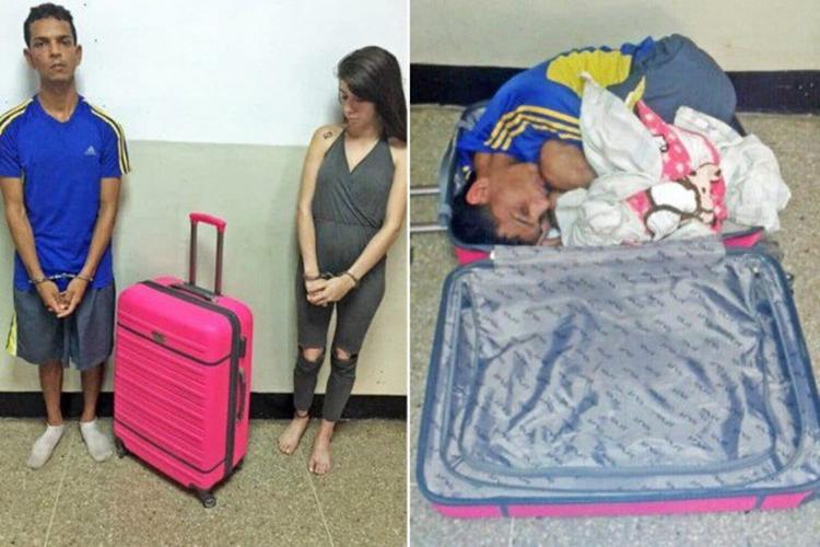 Wanita ini masukkan pacarnya ke koper agar bisa kabur dari penjara