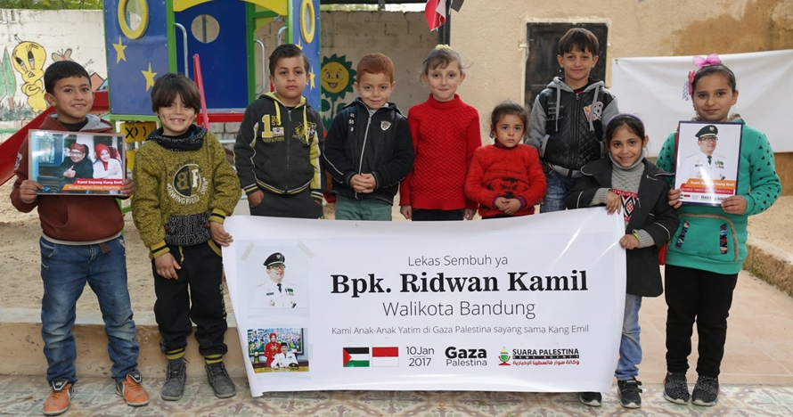 Doa anak-anak Palestina buat Ridwan Kamil yang kena DBD ini bikin haru
