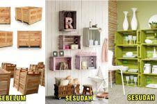 15 Ide cemerlang ubah kotak kayu jadi interior rumah, keren banget lho
