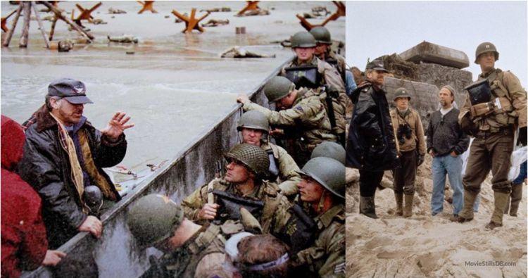 12 Foto di balik layar film perang legendaris Saving Private Ryan