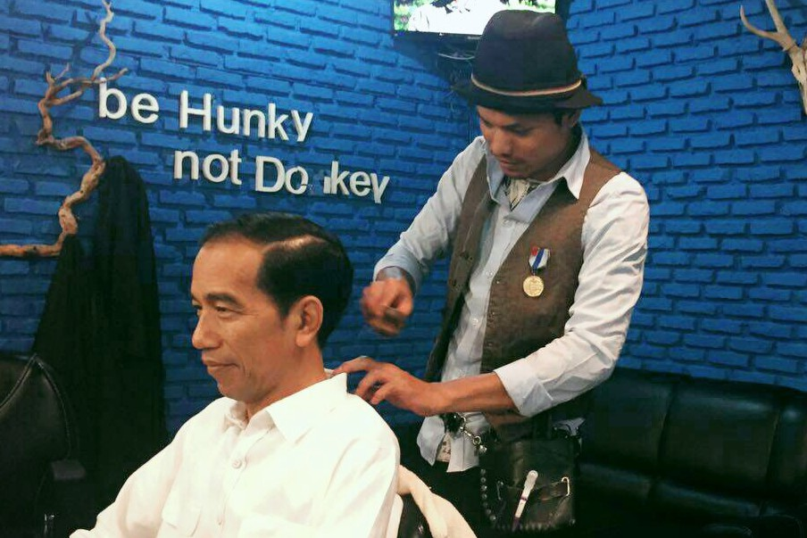 Ini komentar Jumadi setelah barbershop-nya kedatangan Jokowi