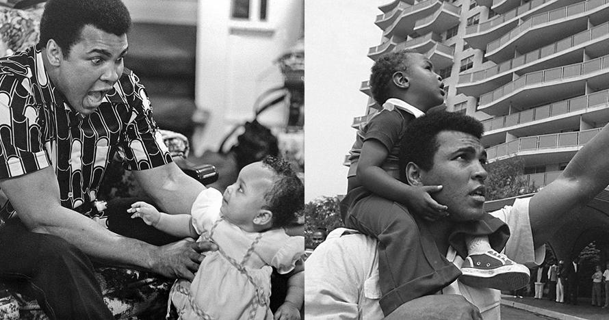 10 Foto lawas Muhammad Ali sang legenda tinju yang sayang keluarga
