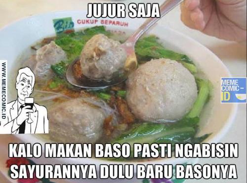 Meme bakso © 2017 Istimewa