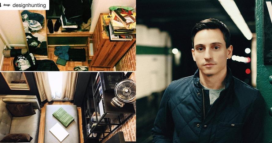 Trik Anthony Triolo, ubah ruangan sempit jadi tempat tinggal komplet