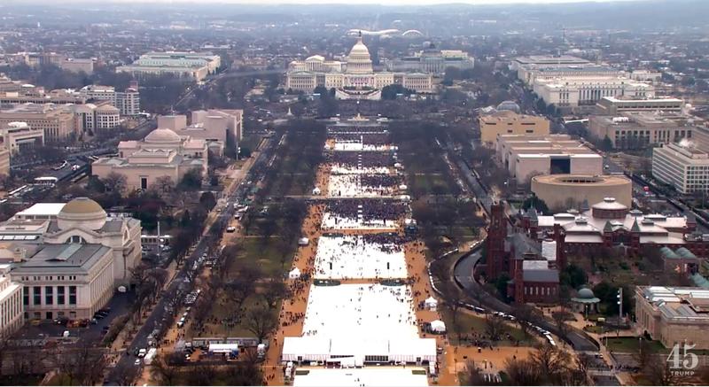 Massa pelantikan presiden AS  © 2017 brilio.net