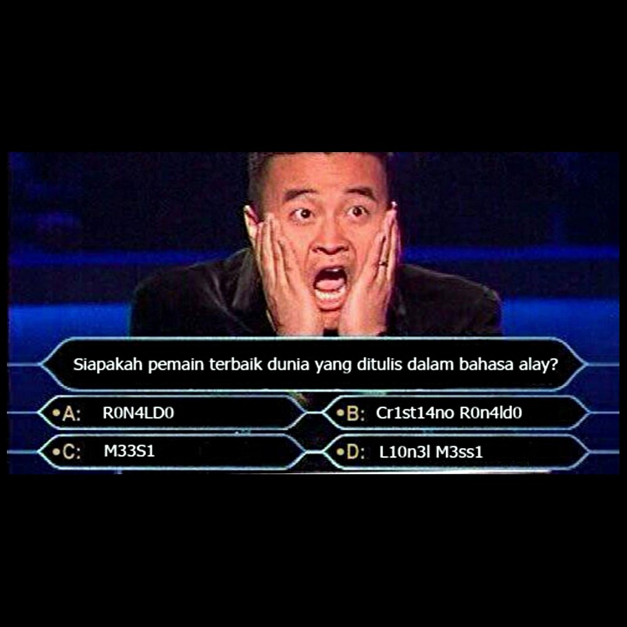 10 pertanyaan editan kuis who wants to be a millionaire ini lucu