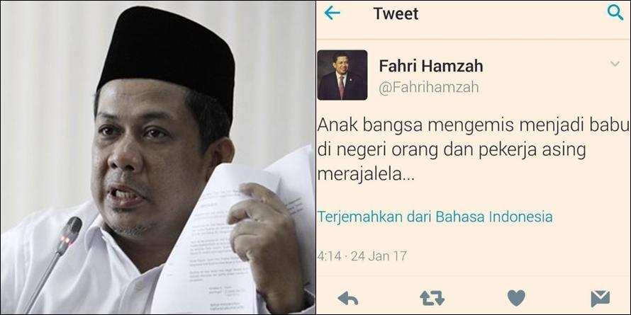 Sebut TKI sebagai 'pengemis' dan 'babu', Fahri Hamzah dihujat netizen