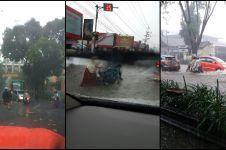 Hujan angin landa Yogyakarta, parkiran Mal terendam air