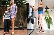 Punya kaki sepanjang 1,3 meter, wanita ini ingin pecahkan rekor dunia