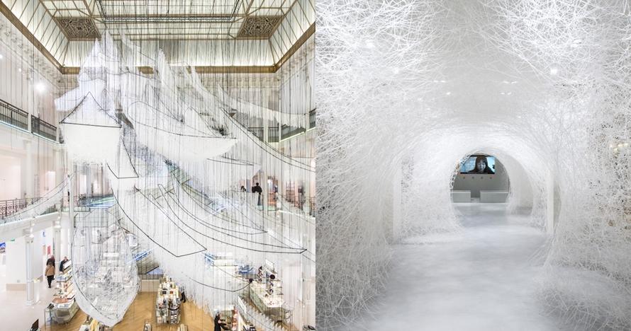 8 Karya seni raksasa terbuat dari 300 ribu benang ini bikin melongo
