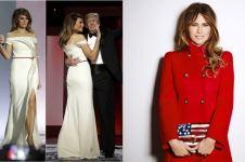 Jadi ibu negara, 10 gaya fashion Melania Trump ini pernah tuai pujian