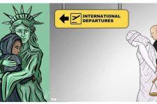 10 Ilustrasi ini melawan kebijakan Trump larang muslim masuk AS