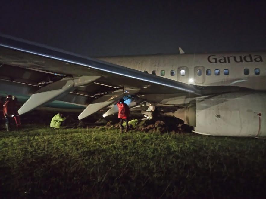 Insiden Garuda tergelincir, Bandara Adisutjipto masih ditutup